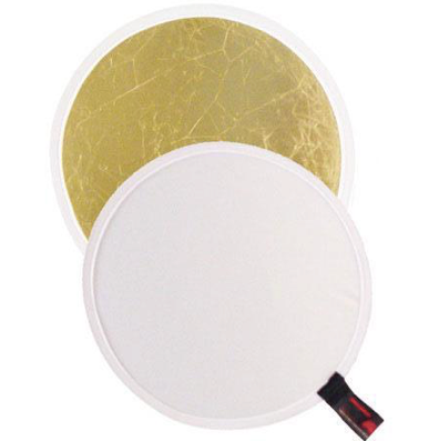 "Photoflex LiteDisc 22"" Collapsible Reflector Disc: White/Soft Gold"