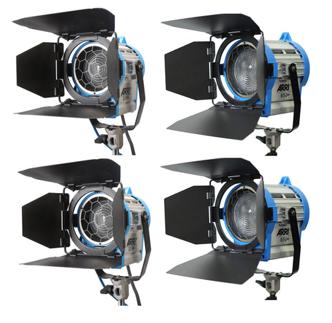 Arri (2) 650W PLUS & (2) 300W PLUS Fresnel Light Kit