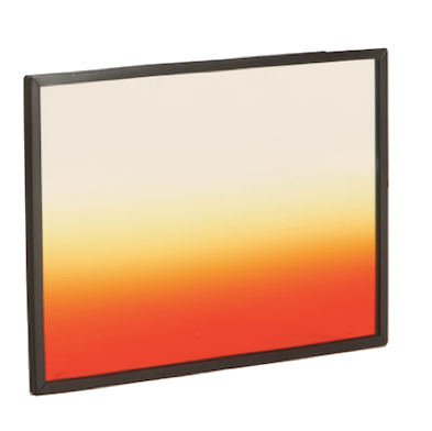 "Formatt Hitech 4x5.65"" Color Graduated Horizontal Sunset 3 Soft Edge Filter"