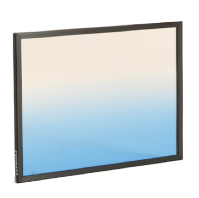 "Formatt Hitech 4x5.65"" Color Horizontal Graduated Cool Blue 2 Soft Edge Filter"