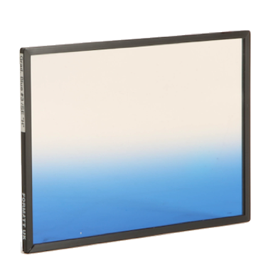 "Formatt Hitech 4x5.65"" Color Horizontal Graduated Cool Blue 3 Soft Edge Filter"