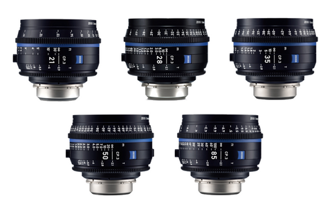 Zeiss EF CP.3 (5) Prime Lens Kit