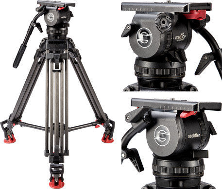 Sachtler 18II head with CF-100ENG Tripod