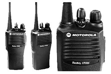 2 Motorola CP200 Walkie Talkie Kit