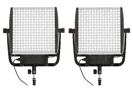Litepanels Astra 6X LED Traveler Bi-Color Duo 2-Light Kit with Gold Mount Battery Brackets