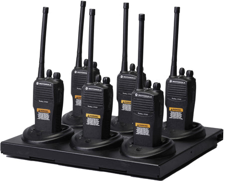 6 Motorola CP200 Walkie Talkie Kit