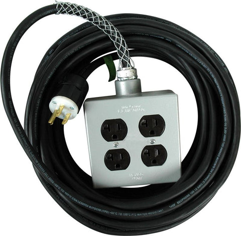 25' Stinger Power Extension Cord With Quad Box (Stinger)