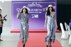 Roxanne (left) and Sharon (right) on the runway at QEII Cup