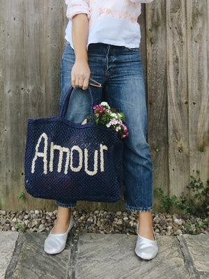 Jute Bag - Navy Amour