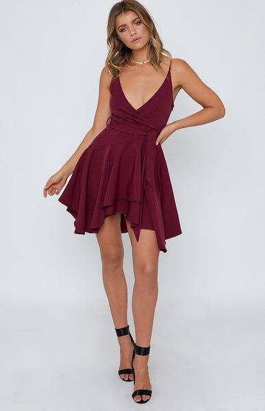 Flirty Fun Plum Dress