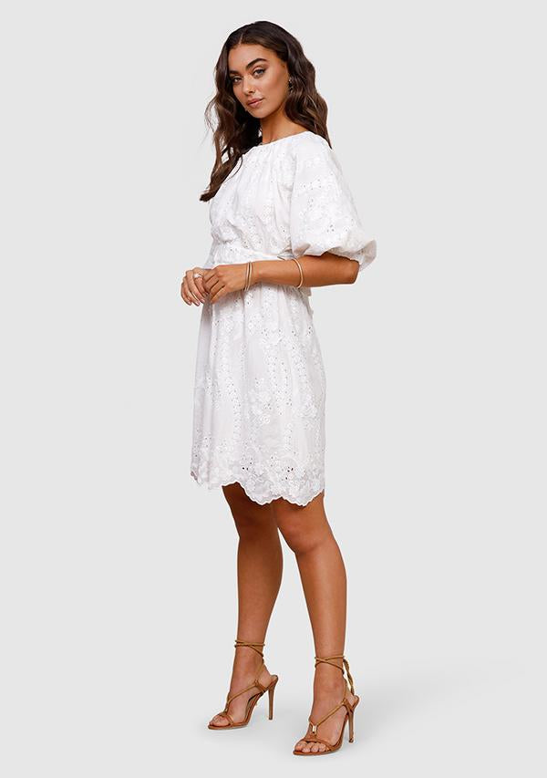 SUNSET DREAMS MINI DRESS - IVORY