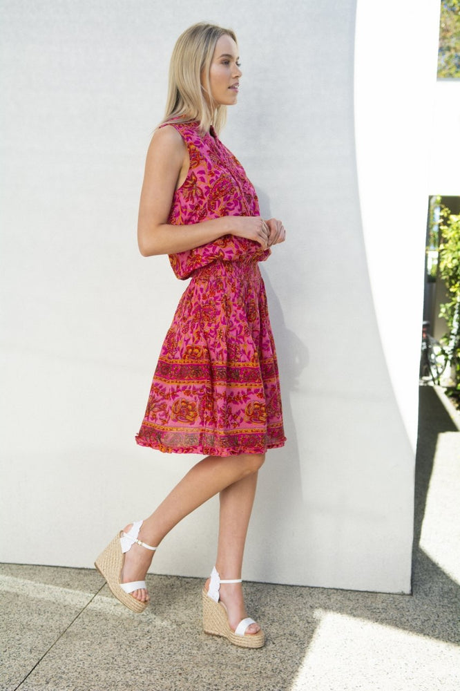 RUBI DRESS - PAISLEY RED