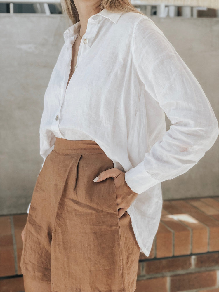 Lucy Linen Button Up Shirt