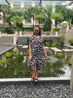 KK SUMMER DRESS - BLACK ZEBRA