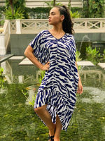 KK SUMMER DRESS - BLUE ZEBRA