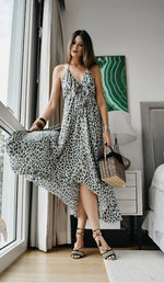 Gypsy Dress - Green Leopard