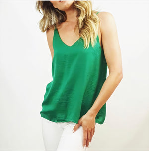 Satin Cami - Emerald