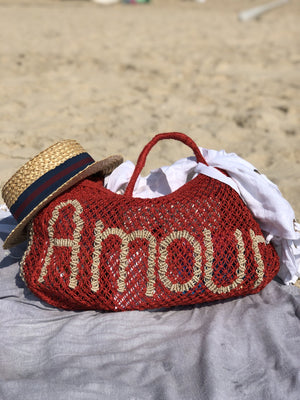 Jute Bag - Red Amour