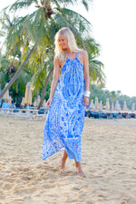 Venice Blue Halter Dress