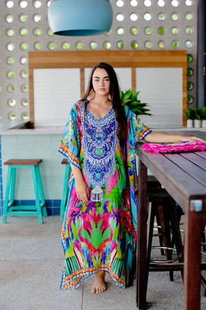 Fantasy Long Silk Kaftan