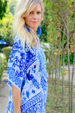Venice Blue Long Kaftan
