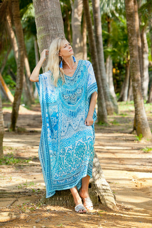 Luna Blue Long Kaftan