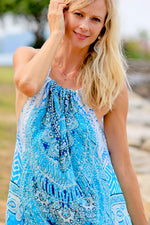 Luna Blue Halter Dress
