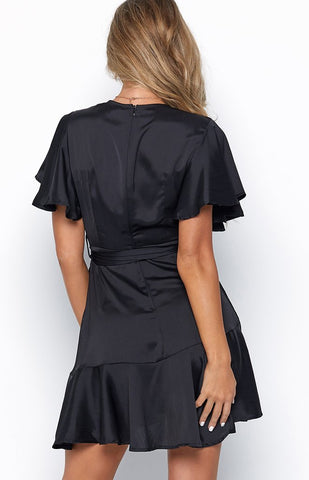 Dazzle the Crowd Dress in Black