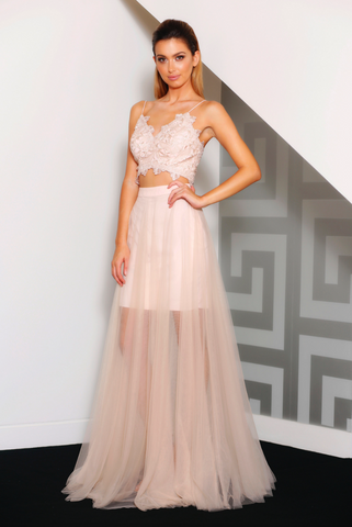 Making Me Blush Evening Gown