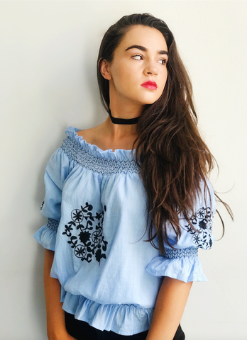 Gypsy Blue Top