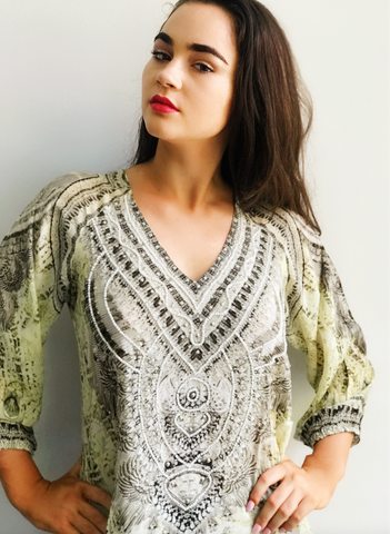 Egyptian Khaki Gypsy Top