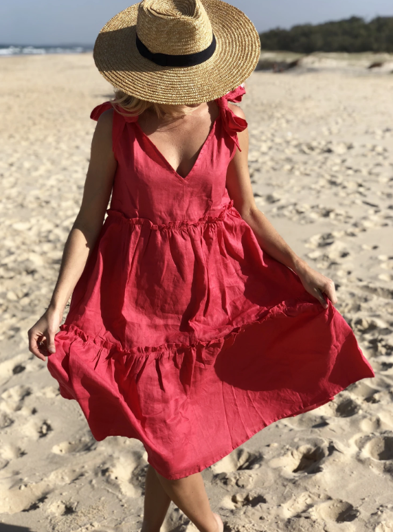 Positano Dress - Raspberry