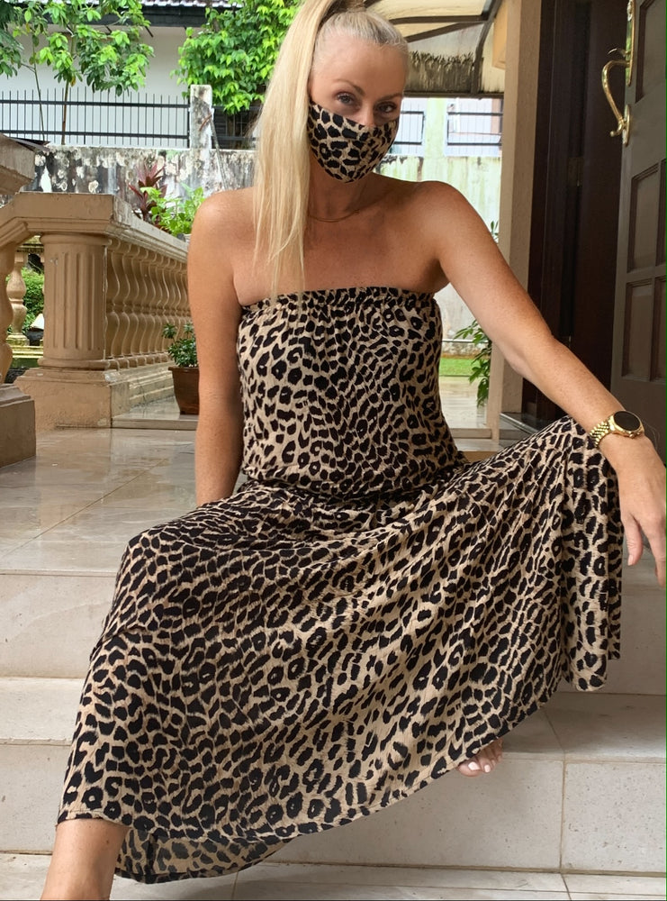 Strapless Maxi - Cheetah