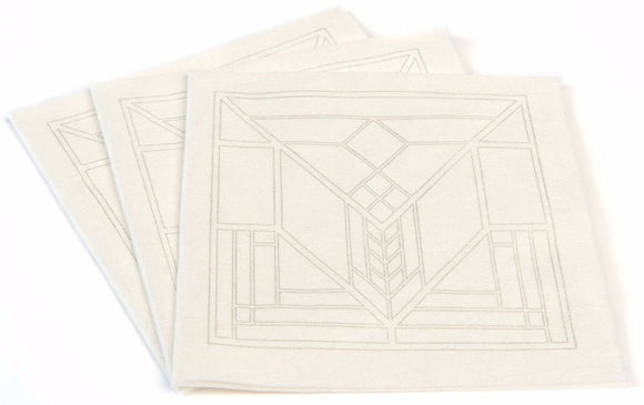 Frank Lloyd Wright® Lake Geneva Tulip PURE Bamboo Dinner Napkin