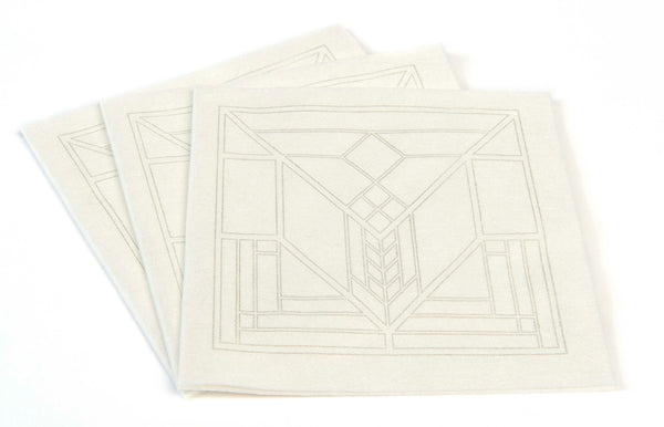 Frank Lloyd Wright® Lake Geneva Tulip PURE Bamboo Cocktail Napkin