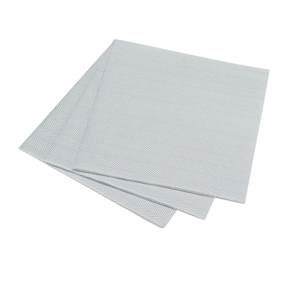 Herringbone Dinner Napkin - Blue