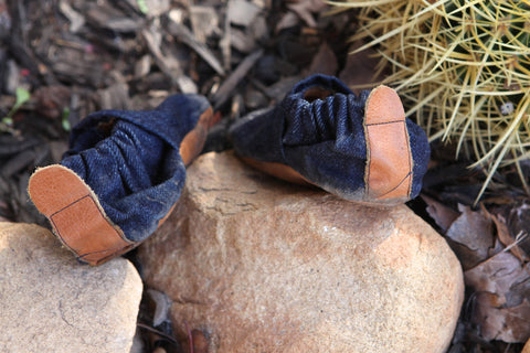 Lil Adventure Mocs // Dark Denim