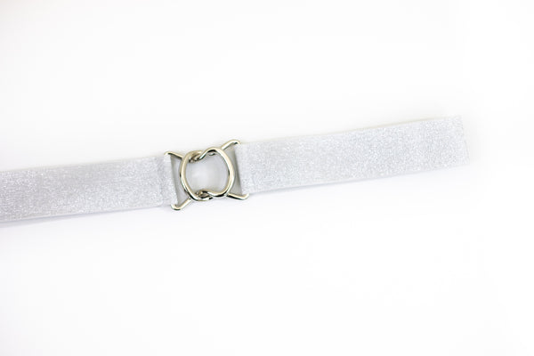 Light silver belt with silver clasp