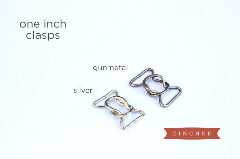 Women's 1 inch belt clasps by Cinched Apparel