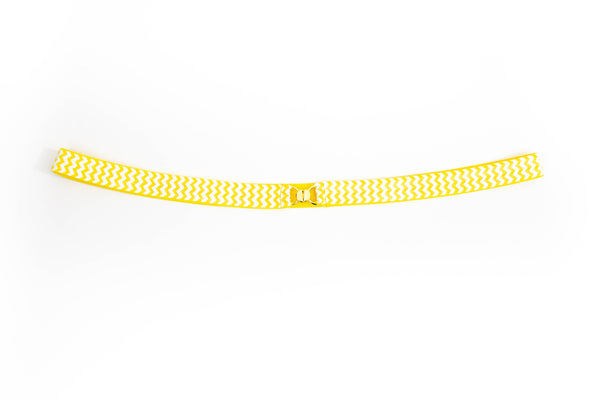 ".5"" white and yellow zigzag belt"