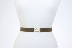 "Women's 1"" brown belt by Cinched Belts"