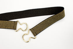 Women's 1 inch gold glitter belt by Cinched Apparel