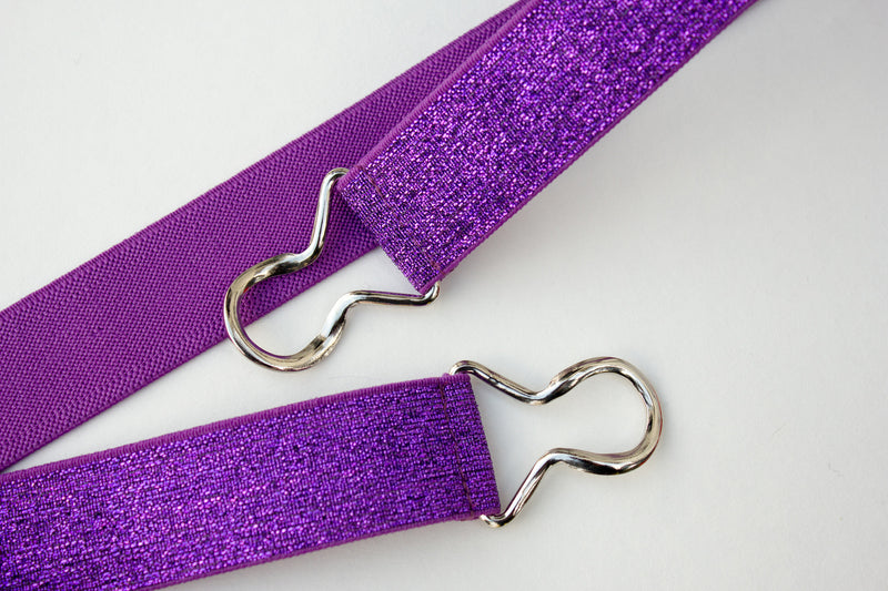 "1"" purple glitter belt"