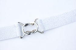 Women's 1 inch silver glitter belt by Cinched Apparel