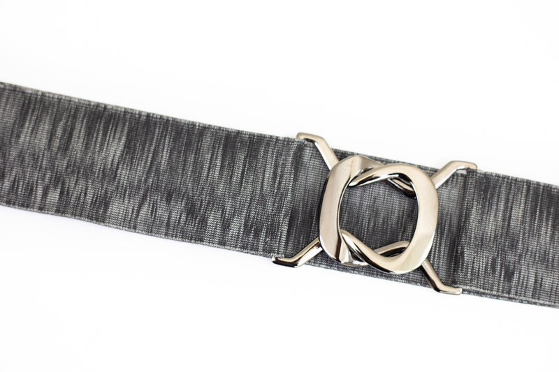 "2.5"" heathered grey belt"