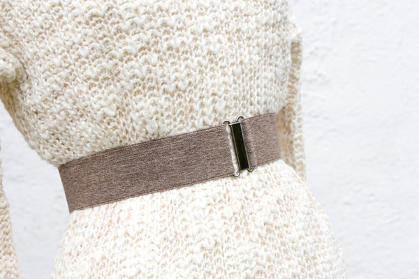 Women's 2 inch brown heathered belt by Cinched Apparel