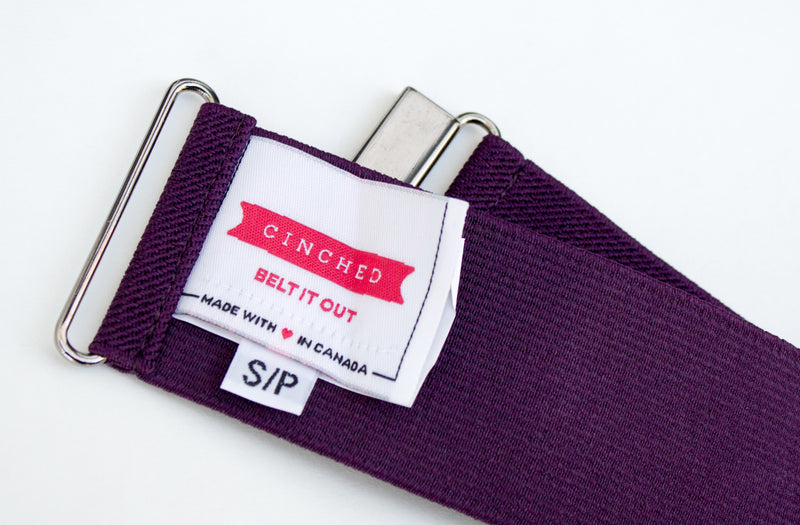 "2"" eggplant purple belt"