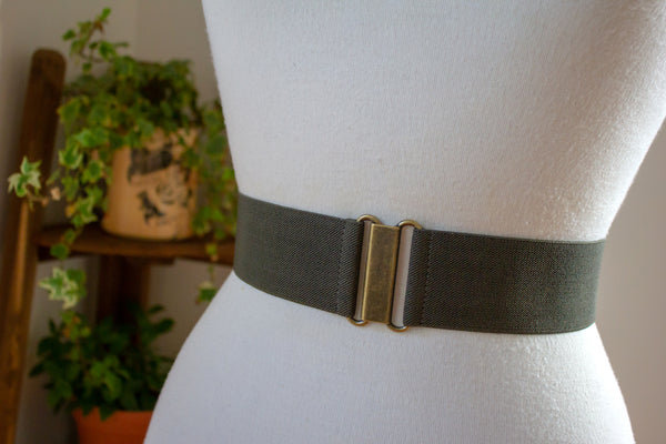 Women's 2 inch khaki green belt by Cinched Apparel