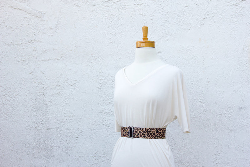Women's 2 inch leopard print belt by Cinched Apparel