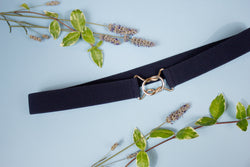 "Women's 1"" navy blue belt by Cinched Belts"